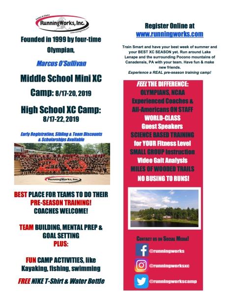 RunningWorks Camp Flyer2019